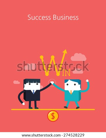 Flat Business character Series.business success team concept - stock vector