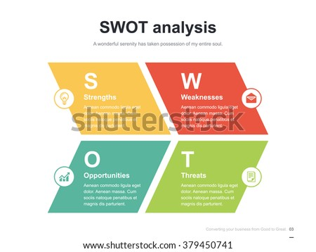 Flat business presentation vector slide template stock vector flat business presentation vector slide template with swot analysis diagram ccuart Image collections