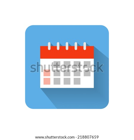 Flat calendar icon. Vector illustration - stock vector