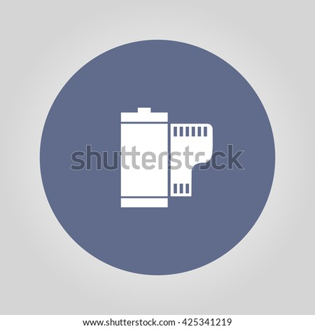 Flat Camera Film Roll. Vector EPS 10 - stock vector