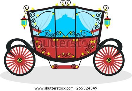 flat carriage in vector format - stock vector