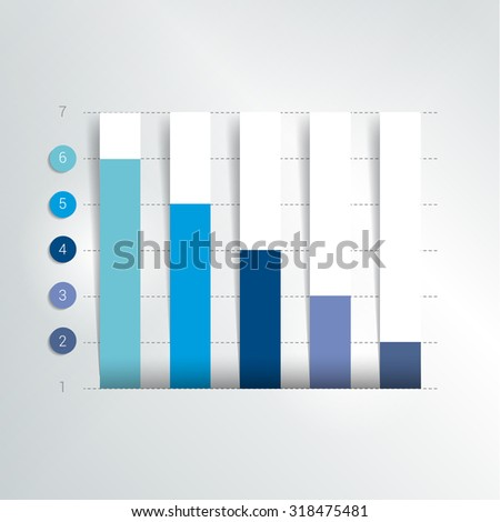 Flat chart, graph. Simply color editable. Infographics elements. - stock vector