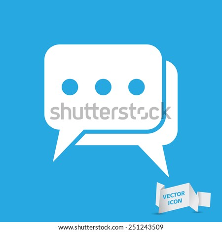 flat chat icon- vector illustration - stock vector