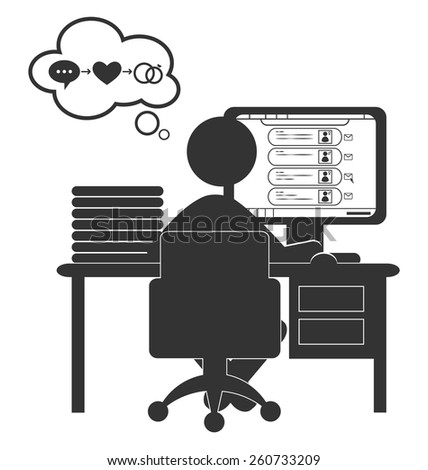 stock-vector-flat-computer-icon-with-dating-site-isolated-on-white-background-260733209.jpg (428×470)