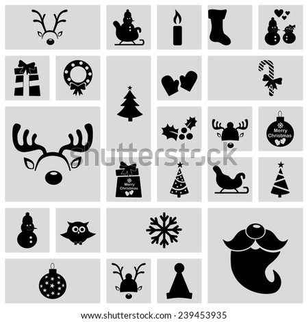 Flat concept, design with shadow, SEO. Set modern Icons mobile applications and web design. Working optimization:  new year, Christmas 2015