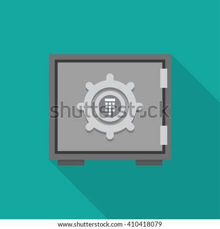 Flat concept safe icon with shadow. Safe icon vector. Safe illustration. Safe icon flat. - stock vector