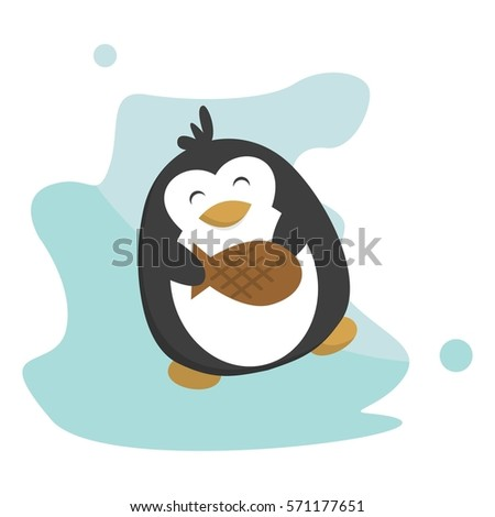 Penguin eating stock images royalty free images vectors for Penguin and fish