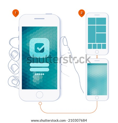 Flat Design Ui Web Elements Mobile Stock Vector (2018) 210307684 ...