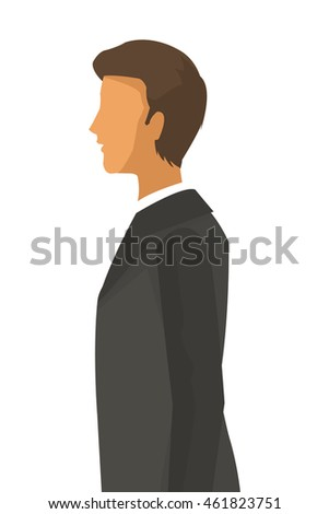 flat design businessman profile icon vector illustration