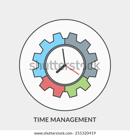 Flat design concept for Time Management. Vector illustration for web banners and promotional materials - stock vector