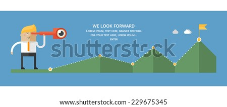 Flat design concepts for business strategy, education, finance, travel - stock vector