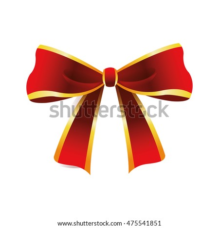 flat design decorative bow icon vector illustration