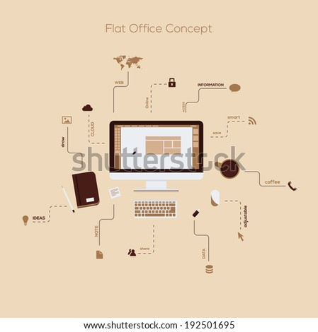 Flat Design elements Infographic concept for web and mobile. Vector