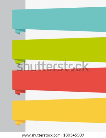 Flat design elements. Origami page banners. Vector set. - stock vector
