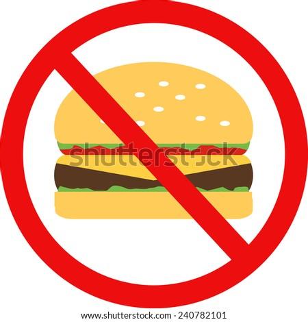 Flat  design icon hamburger - stock vector