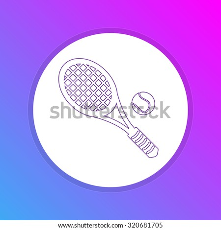 Flat Design Icon - Tennis