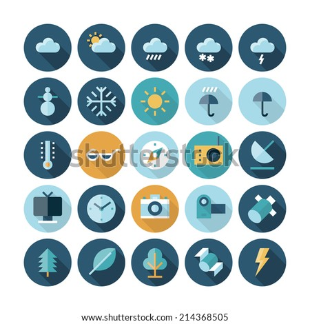 Flat design icons for user interface., website, site, program Vector eps10 with transparency. - stock vector