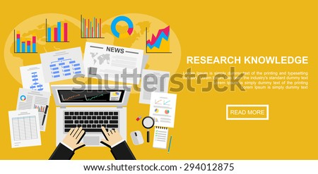 Flat design illustration concept for market analysis, business plan, investment, marketing. reporting, management, market research.  - stock vector