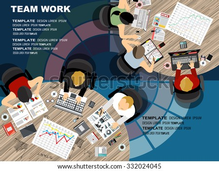 Flat design illustration concepts for business analysis and planning, consulting, team work, project management,financial report and strategy . Concepts web banner and printed materials. - stock vector