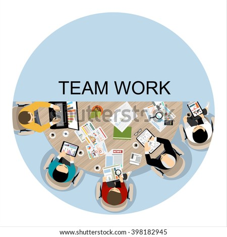 Flat design illustration concepts for business analysis and planning, consulting, team work, project management, financial report and strategy . Concepts web banner and printed materials. - stock vector