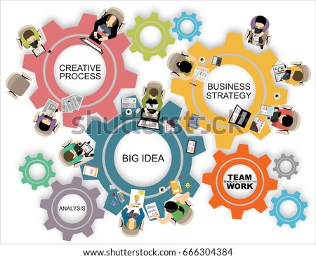 Flat Design Illustration Concepts Business Analysis Stock Vector Royalty Free 666304384