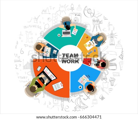 Flat Design Illustration Concepts Business Analysis Stock Vector ...