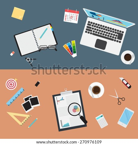 flat design illustration concepts for creative business - stock vector