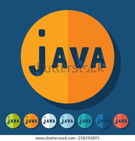 Flat design. java - stock vector
