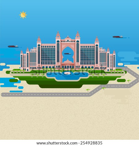 Atlantis stock vectors images vector art shutterstock for Pool design dubai