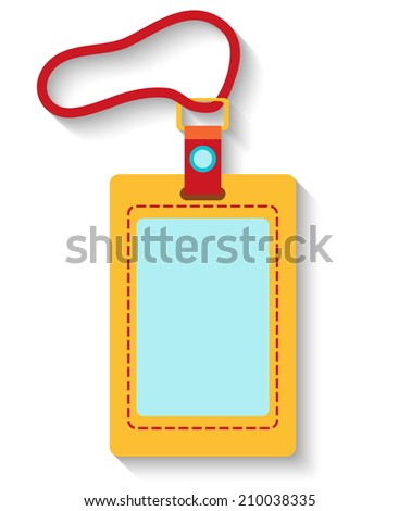 Flat design luggage tag isolated on white background. Vector illustration - stock vector
