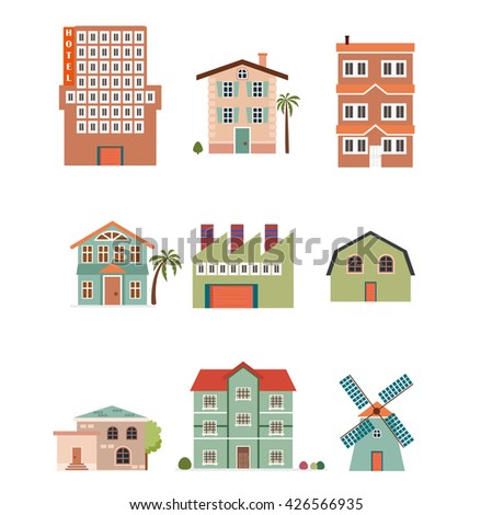 Flat design of buildings