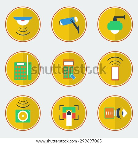 Flat design of security solution for protect property place vector illustration. - stock vector