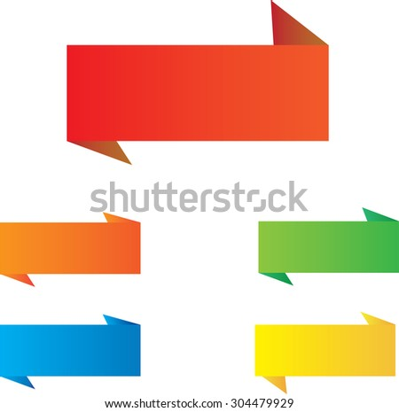 Flat design of Web Stickers, Tags, Banners and Labels collection - stock vector