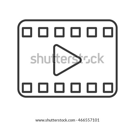 flat design play video icon vector illustration