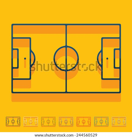 Flat design: playing field - stock vector