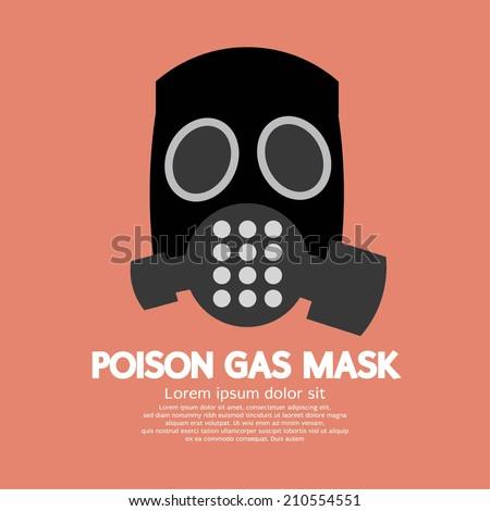 Flat Design Poison Gas Mask Vector Illustration - stock vector