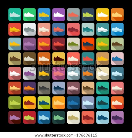 Flat design: sneakers - stock vector