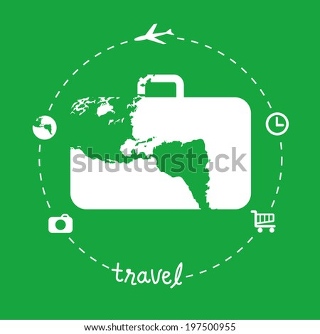flat design travel concept. - stock vector