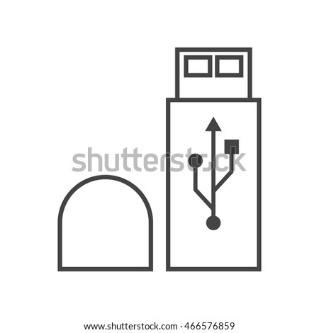 usb charging plug outline icon on stock vector 497476993