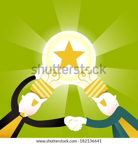 flat design vector illustration concept of creative collaboration - stock vector