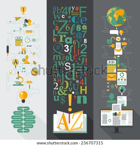 Flat design vector illustration concepts for business, web, mobile marketing, partnership, education - stock vector