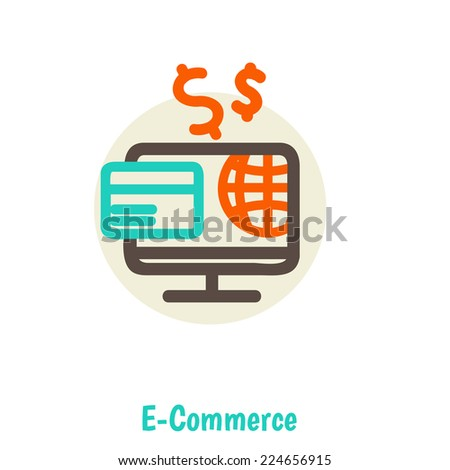 Flat design vector illustration concepts of online payment methods. Icons for online payment gataway, mobile payments, electronic funds transfers and bank wire transfer. - stock vector