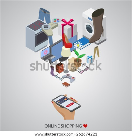 flat design vector illustration concepts of online shopping