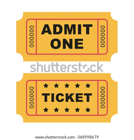 Flat design vintage cinema tickets.