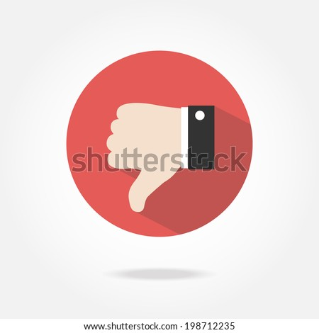 Flat dislike icon. - stock vector