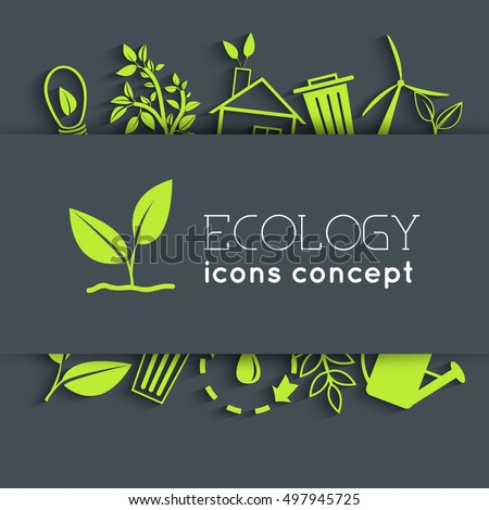 flat eco background concept. Vector illustration design