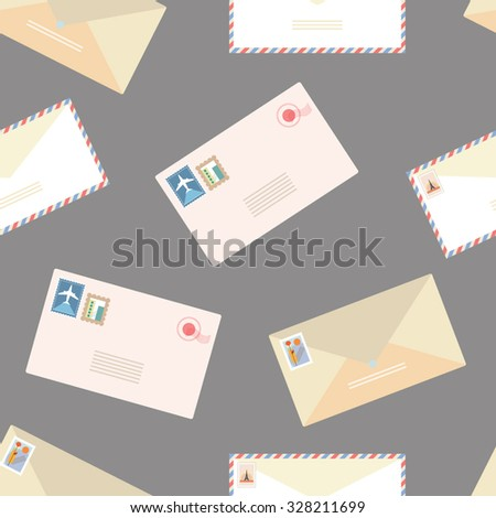 Flat envelope seamless pattern