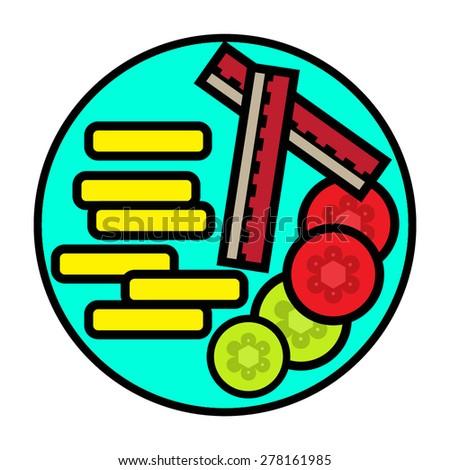 Flat Food Icon - stock vector