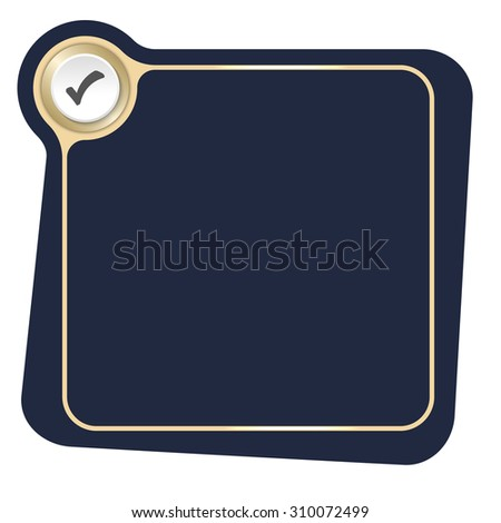 Flat frame for your text and check box - stock vector