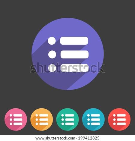 Flat game graphics icon menu - stock vector
